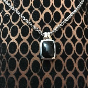 Onyx sterling w gold accent necklace